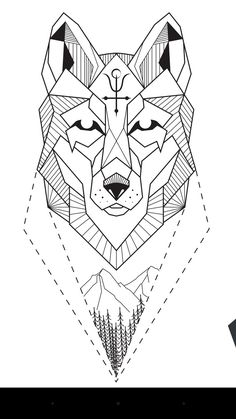 Pin de nikita kryuchenkov em эскизы хаски тату, эскиз тату e рисунки. Wolf Tattoo Design, Tattoo Designs, Geometric Wolf Tattoo, Tribal Wolf Tattoo, Aquarell Tattoos, Kunst Tattoos, Wolf Tattoos, Animal Tattoos, Tattoo Sketches