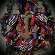 Whimsical Wreaths by Jenna's Nautical  Wreath! Get yours today. $75 free shipping!