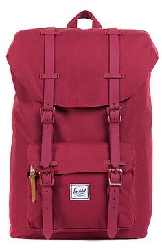 The Little America Mid Volume Backpack in Burgundy by Herschel Supply. This #backpack is a reconstructed smaller version of the original model. The function and its features have all been preserved. Herschel Supply impresses us yet again this season. $100