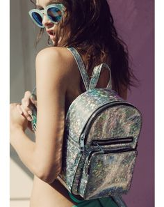 Current Mood Sparkle Party Mini Backpack looks like an explosion of shimmer… Jansport, Mini Backpack, Leather Backpack, Rave Accessories, Mini Mochila, Unique Backpacks, Sparkle Party, Cute Bags, Fashion Backpack
