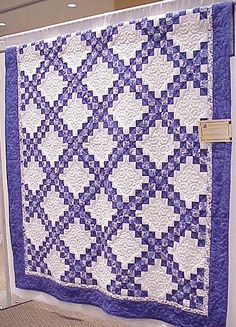 delph blue, quilt | Delft Blue Double Irish Chain Ione Ewert Whitney