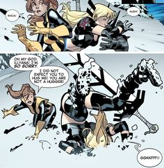 Hug attack! Kitty Pryde, Illyana Rasputin, X-Men