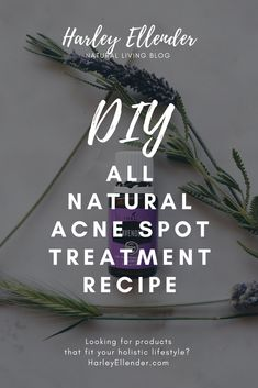 Do it yourself all natural acne spot treatment using essential oils like lavender and tee tree oil to clear your skin from any unwanted blemishes. Organic Skin Care, Natural Skin Care, Natural Face, Natural Health, Acne Spot Treatment Diy, Acne Moisturizer, Acne Help, Coconut Oil For Acne, Healthy Skin Tips