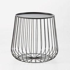 Bout de canapé Cage fil métal la Redoute