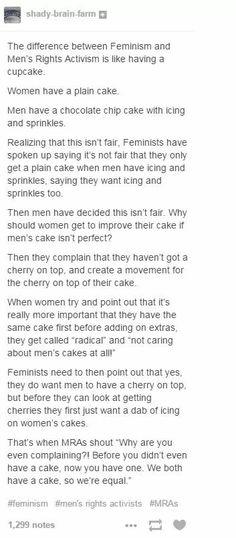 Share the damn cake already!