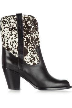 Michael Kors Leather and calf hair cowboy boots NET-A-PORTER.COM