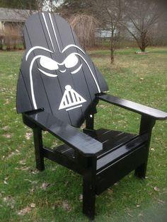 Darth Vader Adirondack Chair painted version Star wars by MandWs #PaintedChair