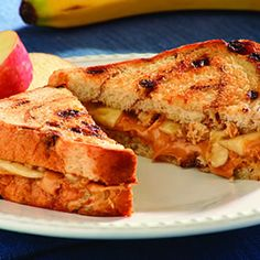 Grilled Banana & Peanut Butter Sandwiches
