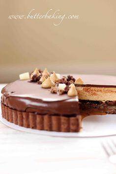 Salted Caramel, Pear and Pecan Chocolate Tart | Butter Baking