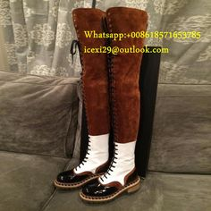 73beaf0afc90 Lace Up Patchwork over the knee boots Over The Knee Boots