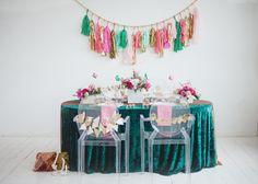 Emerald and Pink Wedding Ideas  pretty tassles from @Amina Mucciolo