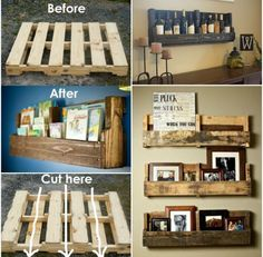 Pallet into a shelf! Can't wait to make my wine bottle holder with this (: