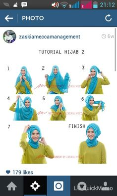 Hijab Tutorial 2 by Zaskia Adya Mecca – Hijab Fashion 2020 Stylish Hijab, Modern Hijab, Hijab Chic, Hijab Casual, Cara Hijab, Turban Hijab, Islamic Fashion, Muslim Fashion, Hijab Fashion