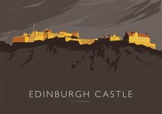 Edinburgh Castle - Open Edition Giclee Art Print - by Peter McDermott Railway Posters, Edinburgh Castle, Scottish Castles, Vintage Travel Posters, Poster Vintage, Photography Gifts, England And Scotland, Online Gallery, Pilgrimage