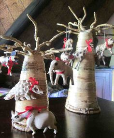 baoabab tree of life- the Baobab tree ornament for sale in the Chilo Gorge Safari Lodge shop, festooned like a Christmas tree with little locally-carved animals, many of which reflect vulnerable species…