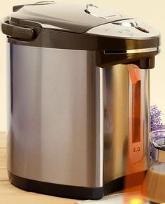 Secura 4-Quart Electric Water Boiler and Warmer SWB-42G, 18/10 Stainless Steel Interior by Secura. $58.95. Water boiler and warmer with a large 4-Quart capacity; Build in automatic cycle to remove water scale buildup;. One-touch electric dispenser; switch under spout;. Micro-computerized temperature-control system; reboils to 212 degrees F; Automatically keeps warm at 208, 175 degree F;. Water-level gauge; low-water auto shut-off; Commercial grade non-coated 18...