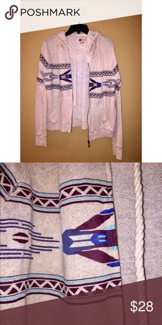 Cute Beige Hipster Tribal Sweater Thin & cute hippy sweater! Billabong Sweaters Cardigans