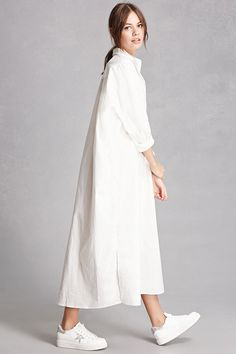 Oversized Shirt Dress in 2020 Summer Fashion Outfits, Modest Fashion, Fashion Dresses, Winter Jackets Women, Coats For Women, Clothes For Women, Simple Dresses, Casual Dresses, Outfit Vintage