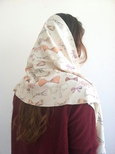 bow print scarf