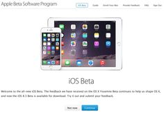 Apple launches its first iOS public beta, iOS 8.3 - http://tchnt.uk/1Cchcs4