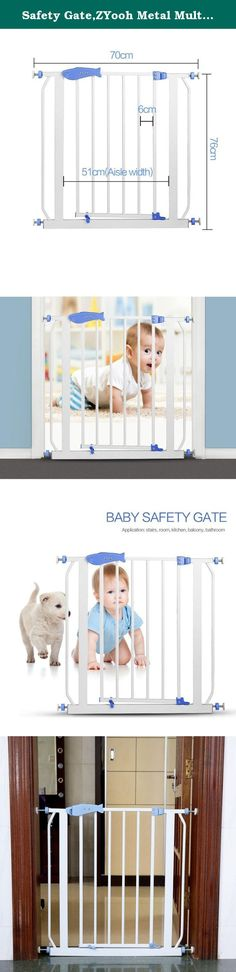 Safety Gate,ZYooh Metal Multifunction Easy Open Baby Gate Children Security Product Use in Doorway Staircase. Package Included: 1xGate 1xPackage Door swings open in both directions and locks shut with a simple push.