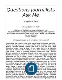 Questions Journalists Ask Me:  Session Two