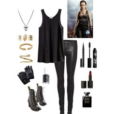 Isabelle Lightwood Outfit by toritheblueseahorse on Polyvore featuring polyvore, fashion, style, H&M, Helmut Lang, Dr. Martens, Roberto Coin, Vita Fede, Charlotte Russe, NARS Cosmetics, Givenchy, Rouge Bunny Rouge and Essie