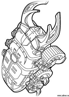 Megazord | C in 2019 | Power rangers coloring pages, Power ...