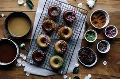 Vegan Spelt Baked Doughnuts with Raw Chocolate Glaze  |  Gather & Feast