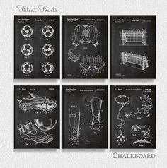 Soccer Patents Set Of 6 Prints, Soccer Prints, Soccer Posters, Soccer  Blueprints,