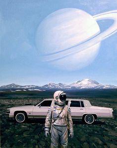 #spaceman by Scott Listfield #shuttle #universe