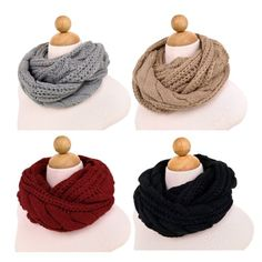 """cool Premium Winter Twist Knit Warm Infinity Circle Scarf - Diff Colors Avail -100% Acrylic One Size: 18"""" wide, 62"""" around Brand: TrendsBlue -http://weddingdressesusa.com/product/premium-winter-twist-knit-warm-infinity-circle-scarf-diff-colors-avail/"""
