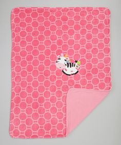 Take a look at this Hot Pink Zebra Plush Receiving Blanket by Taggies on #zulily today!