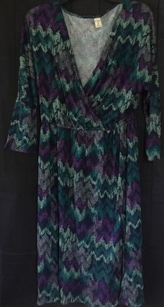 57ef0e42110 Old Navy Women s Blue Green Purple Casual Knit Dress Size M NWT  OldNavy   Shift