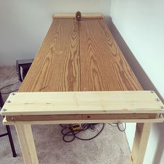I have too many closet doors and not enough tables so Im making tables out of closet doors. #repurposedfurniture #repurposed #table #closet #chair