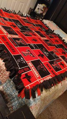 Raiders Blanket, Fleece Tie Blankets, Texas Tech University, Red Raiders, Cat Hair, Iron On Vinyl, Crafts, Sew, Smoke Free