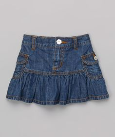 Look what I found on Love U Lots Blue Denim Ruffle Cargo Skirt - Toddler & Girls by Love U Lots Ruffle Skirt, Toddler Girls, Short Skirts, Diy Clothes, Blue Denim, Kids Fashion, Girl Outfits, Girls Dresses, Pure Products