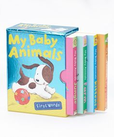 Look at this My Baby Animals Boxed Board Book Set on #zulily today!