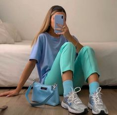 Likes, 260 Comments - max 🐉 fashion Colourful Outfits, Colorful Fashion, Mode Monochrome, Mode Purple, Mode Pastel, Pastel Style, Mode Outfits, Fashion Outfits, Estilo Indie