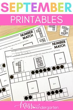 Use these easy to print worksheets to practice number identification. Students name the number and place dots in a ten frame. Great for fine motor practice and for writing numbers 0 - 10. Add these to your math rotations, centers or morning work tubs to keep students engaged and on task. Number Worksheets Kindergarten, Miss Kindergarten, Beginning Of Kindergarten, Math Literacy, Literacy Skills, Kindergarten Activities, Math Rotations, Math Centers, Number Identification