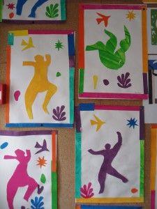 exploitation Henri Matisse, Matisse Kunst, Matisse Art, Portraits For Kids, Matisse Cutouts, 3rd Grade Art, Ecole Art, Collage Template, Family Crafts