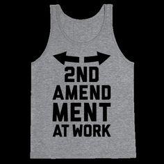 77171f5e33749d 2nd Amendment At Work Tank Top