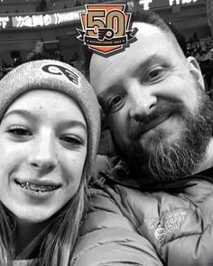 Her Christmas present....my birthday present. Taking in a Flyers game