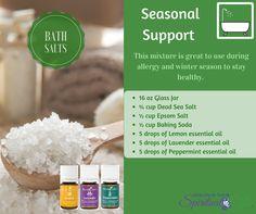 Bath Support, Soda Cup, Salt Recipe, Bath Salts Recipe, Dead Sea Salt, Lemon Essential Oils, Epsom Salt, Winter Season, How To Stay Healthy