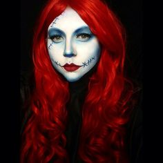 Pin for Later: 77 Drop-Dead-Gorgeous Halloween Costumes For Rainbow Hair Colors Red Hair Sally from The Nightmare Before Christmas