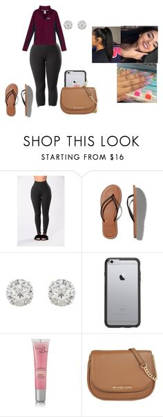 """""""I was trying to do my homework."""" by chanel-xoxo123 ❤ liked on Polyvore featuring Victoria's Secret, Abercrombie & Fitch, Accessorize, OtterBox, Révérence de Bastien and MICHAEL Michael Kors"""