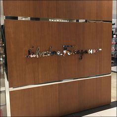 Mirror Finish Salvatore Ferragamo Branding – Fixtures Close Up Industrial Chic, Salvatore Ferragamo, Logo Branding, Close Up, It Is Finished, Hair Accessories, Retail, Mirror, Diy