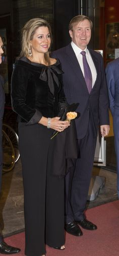 King Willem-Alexander and Queen Maxima of The Netherlands attends the jubilee concert of the Residentie Ochestra in the Dr. Anton Philipszaal in The Hague, The Netherlands, 21 November 2014.