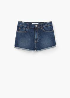 High-waist denim shorts | MANGO