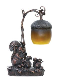 Sterling Home 91-768 Squirrel Acorn Light Table Lamp Ster...